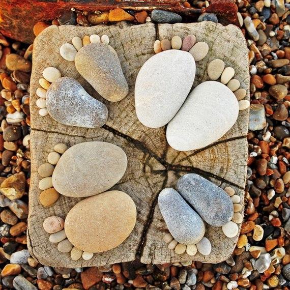 31 ideas espectaculares para decorar tu hogar y jard n con - Decorar piedras de rio ...