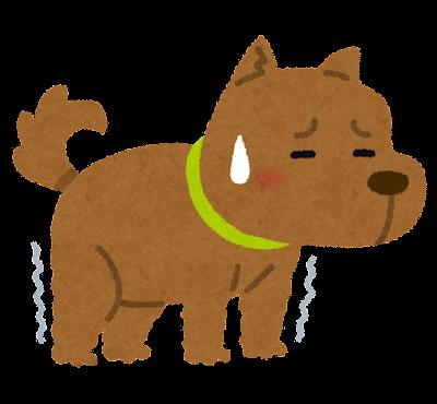 足の弱った犬のイラスト