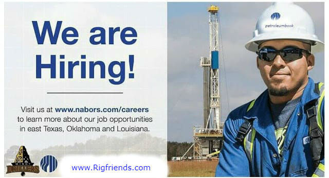 250 + Vacancies at Nabors Company :$30/hr – $50/hr OT, 14/7 Rotation +Per Diem, Housing,Across the US
