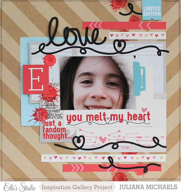 You Melt My Heart Layout by Juliana Michaels #ellesstudio