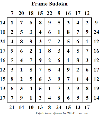 Frame Sudoku (Daily Sudoku League #129) Solution