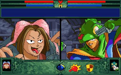 【Dos】蜥蜴超人,風格獨特搞笑的對戰遊戲!