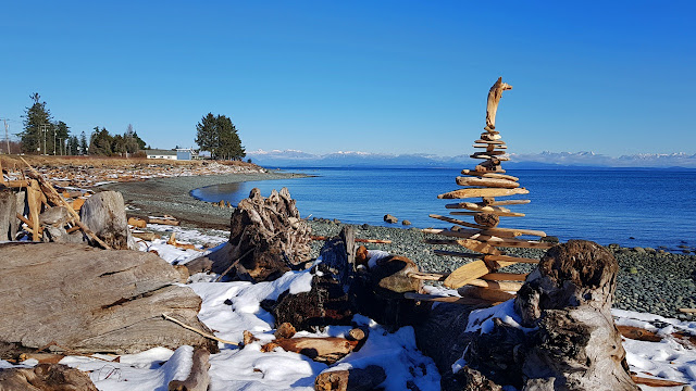 A tower of driftwood...