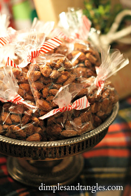Favorite recipes for the Holidays  ||  Holiday Party Recipe Ideas  ||  candied almonds  ||  treats