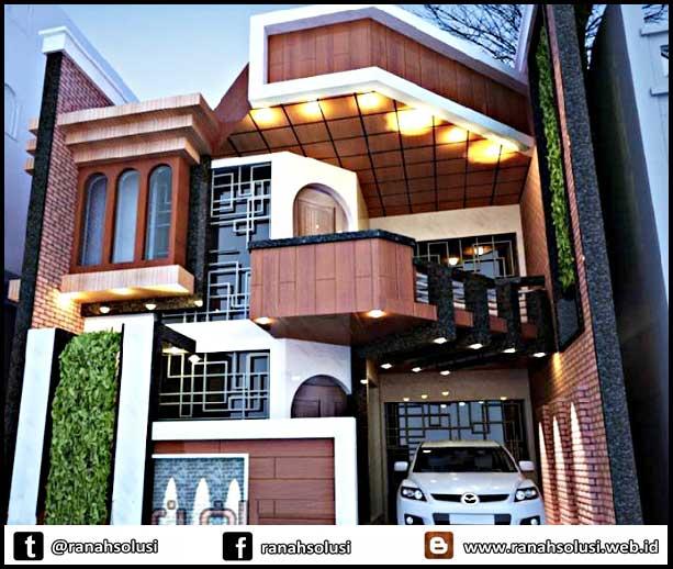 Gambar Desain Rumah Minimalis 2 Lantai Mewah