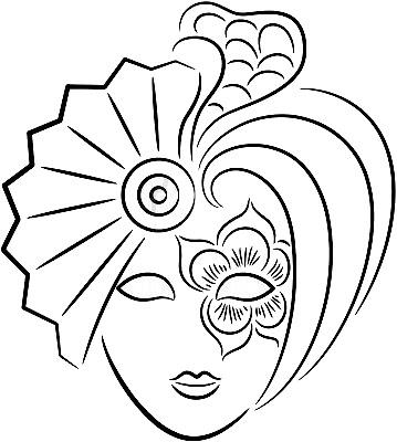 Maestra de Infantil Mscaras venecianas y arlequines para colorear