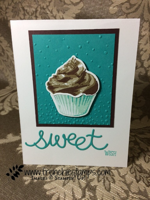 Sweet Cupcake, Cupcake Cutouts Framelits Stampin'Up! Frenchietamps
