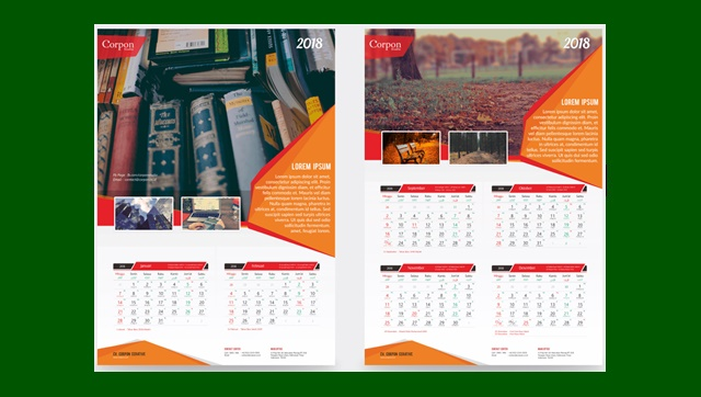 Download Template Kalender 2018 Gratis Format CDR