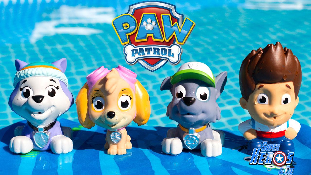 super h ros et compagnie pat 39 patrouille jouet de bain aspergeur paw patrol pup bath squirters. Black Bedroom Furniture Sets. Home Design Ideas