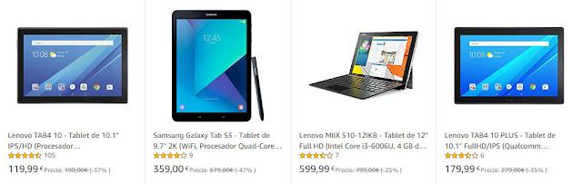 Hasta un 30% de descuento en Tablets Samsung, Lenovo y más de Amazon