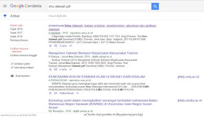 hasil penelusuran google scholar