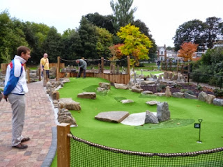 Putt in the Park Crazy Golf Course in Wandsworth Park, London