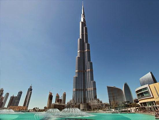 Prédios mais altos de cada continente - Burj Khalifa