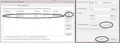 Android emulator error at runtime: std::bad_alloc