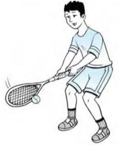 Forehand drive tenis lapangan