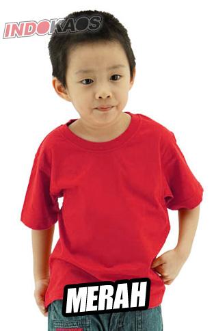 Kaos Polos Anak Merah