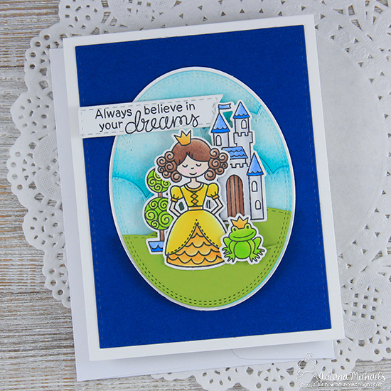 Princess Card by Juliana Michaels | Once Upon a Princess stamp set by Newton's Nook Designs #newtonsnook #princess #handmade