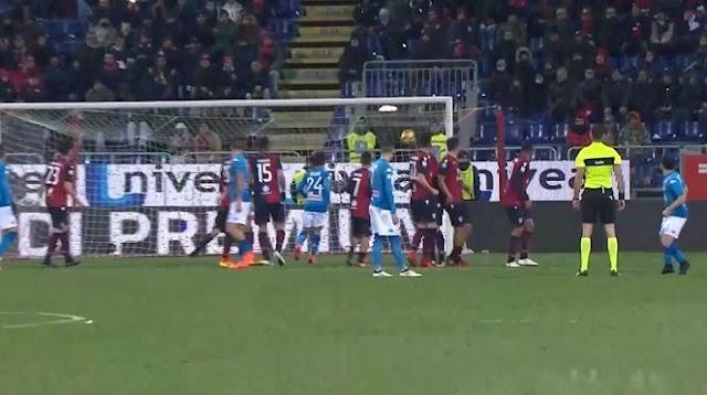 Cagliari Napoli 0-5 le pagelle: Troppo Napoli per i rossoblu; Allan enorme, Padoin il peggiore.