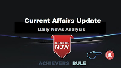 Current Affairs Update - 26th September 2017