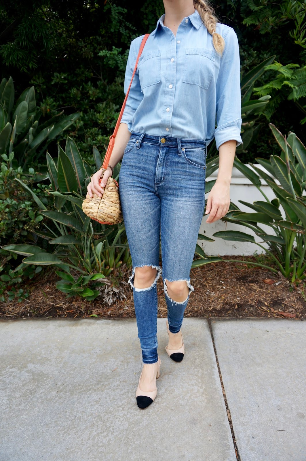 Abercrombie & Fitch denim outfit