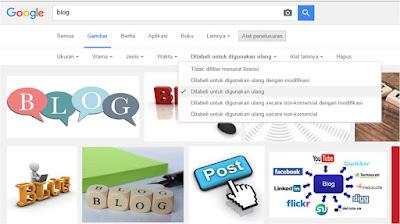 Cara Memperoleh Gambar Gratis Untuk Blog dari Google Image