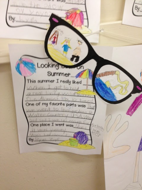 afb240c1faa8 Loved how these Looking Back on Summer Sunglasses craftivities came out!!!  The did such a good job and a lot of my kiddos really impressed me with  their ...