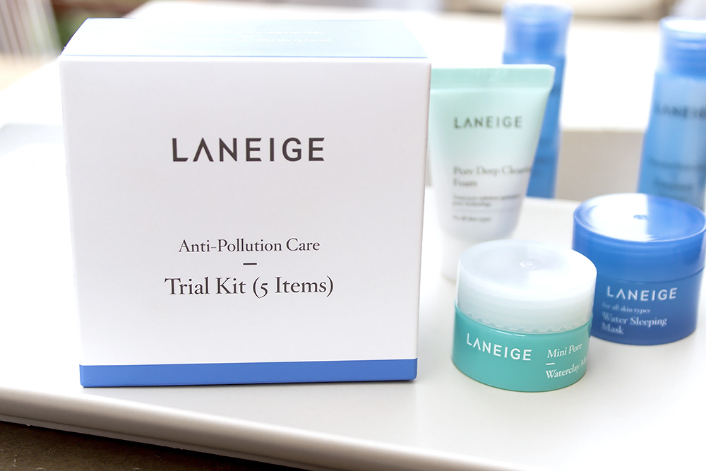 One week using Laneige Anti Pollution Care Trial Kit