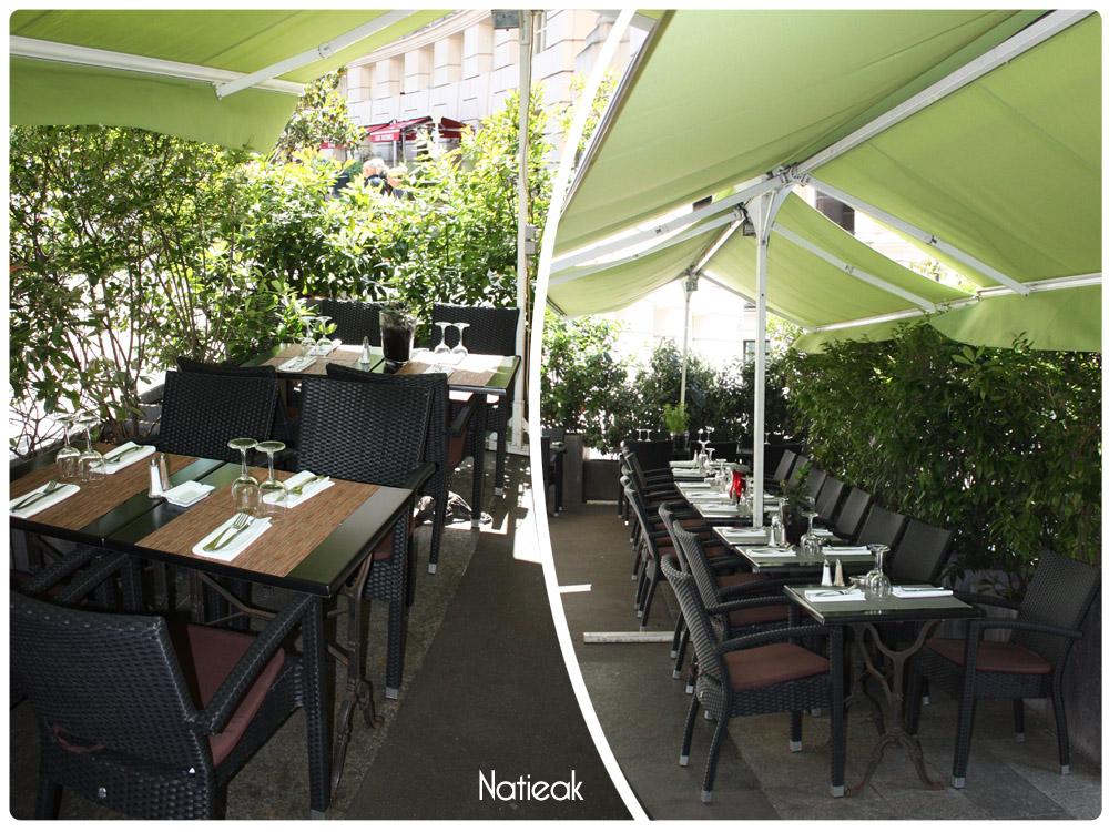 Terrasse du restaurant Millésimes 62 à Paris