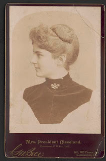 vintage portrait of Frances Folsom Cleveland from about 1886