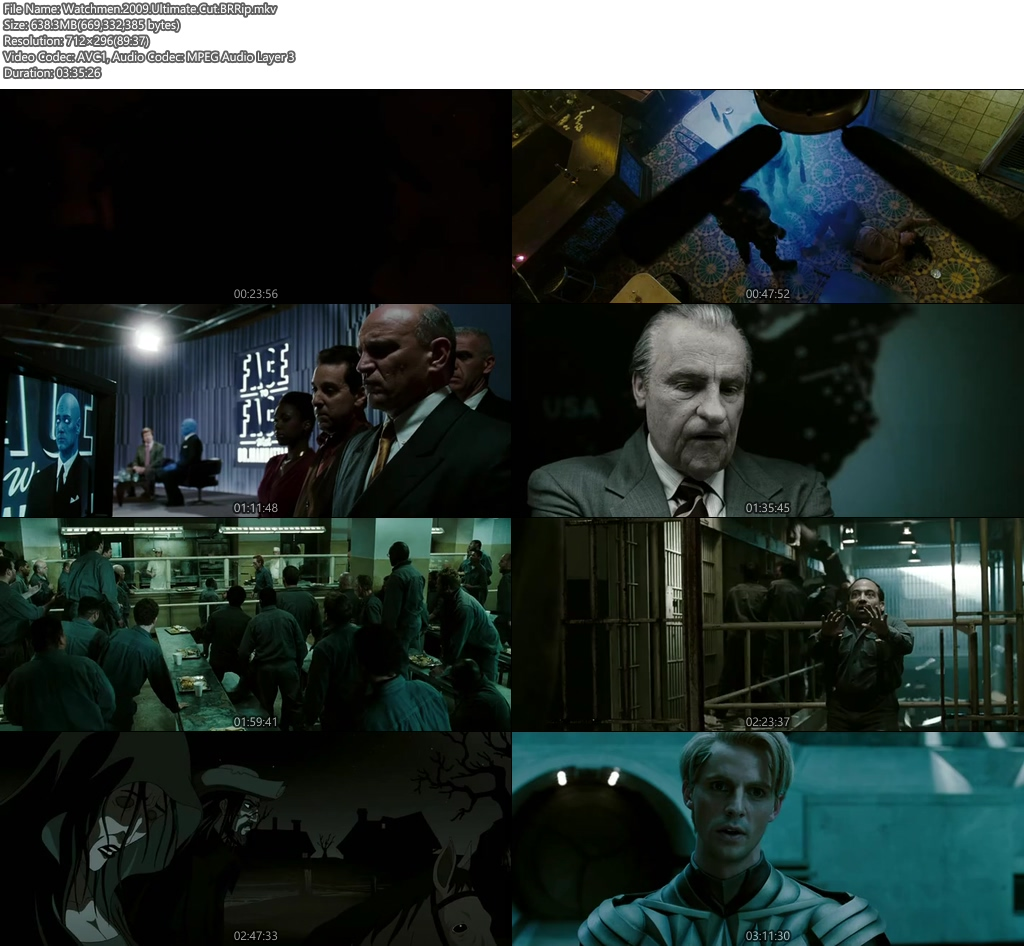 Watchmen 2009 Ultimate Cut 600MB BRRip Screenshot