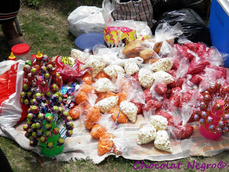 All sorts of candy is available at the tuck shops in Mdantsane schools