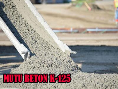 HARGA BETON JAYAMIX MUTU K125, MUTU BETON K-125, HARGA BETON K125