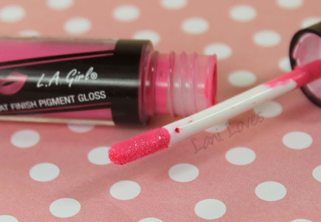 LA Girl Flat Matte Pigment Gloss - Playful Swatches & Review