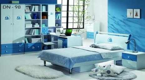Dekorasi Bilik Tidur Berwarna Biru