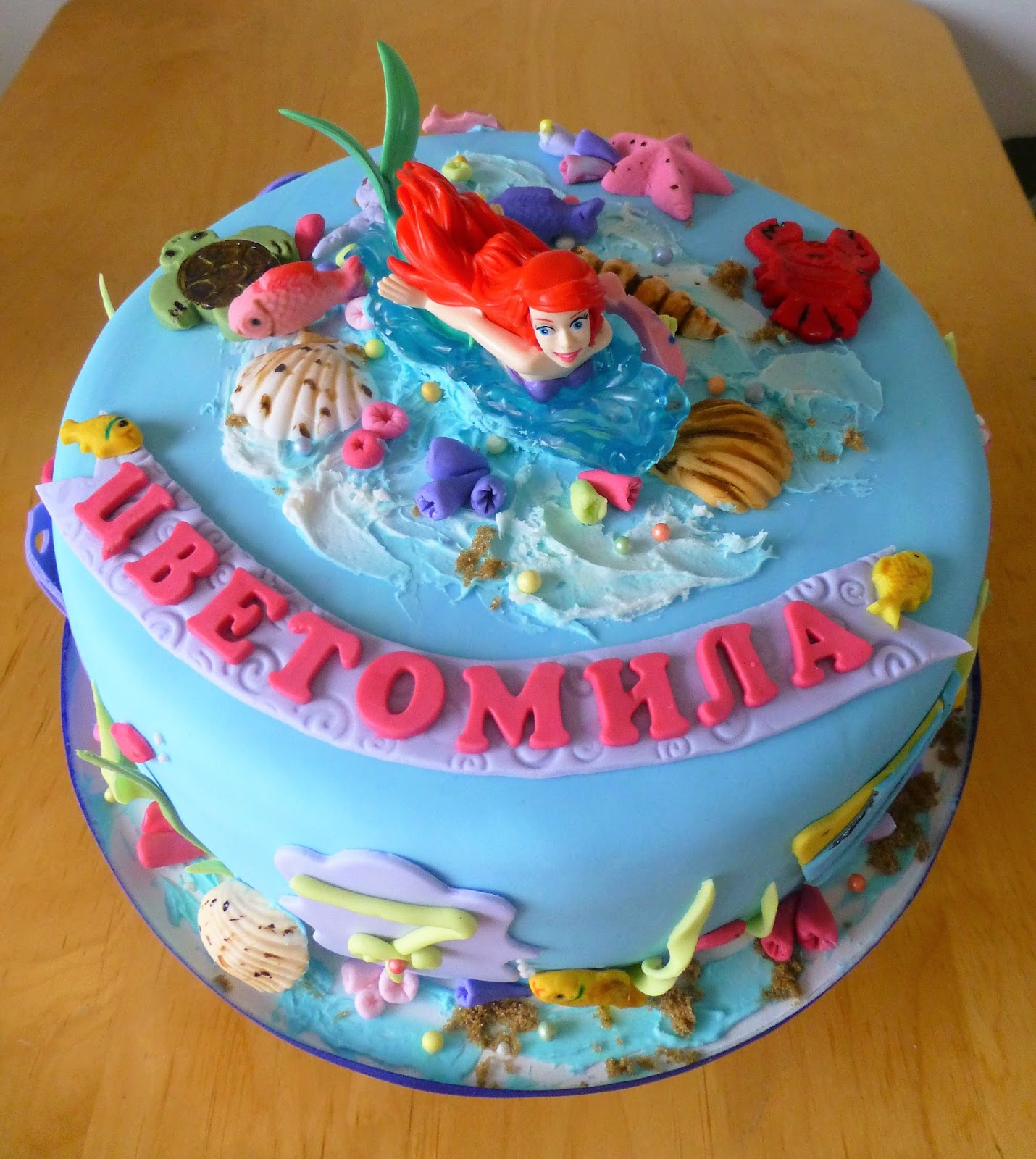 Cakesophia ariel cake for Ariel cake decoration