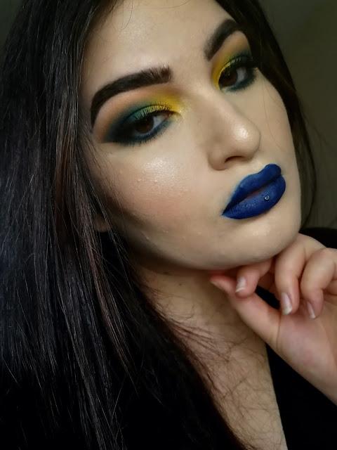 Teal and Mustard Makeup MSC