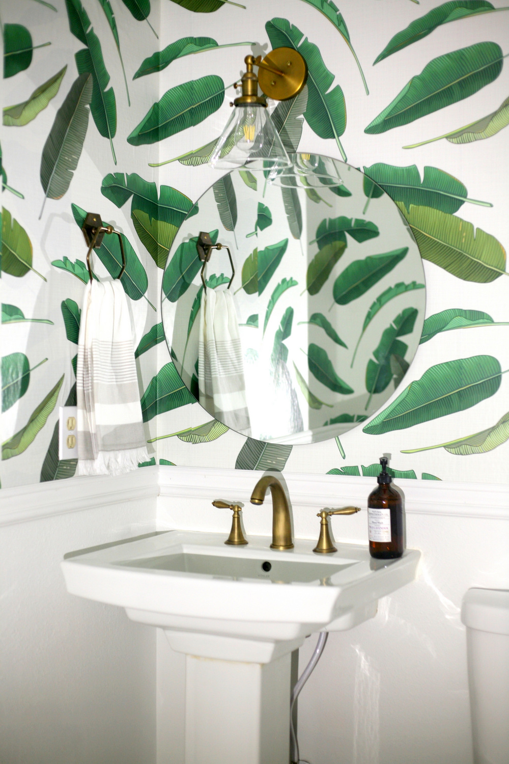 Removable wallpaper in the downstairs powder room - and Walls Need ...