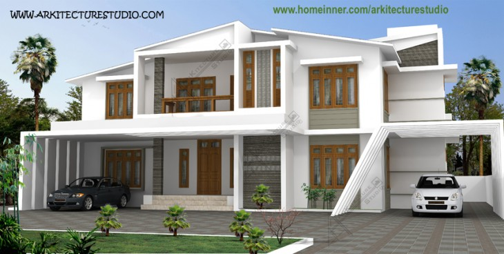 3500 sq ft modern contemporary indian home design - Modern indian home design ...