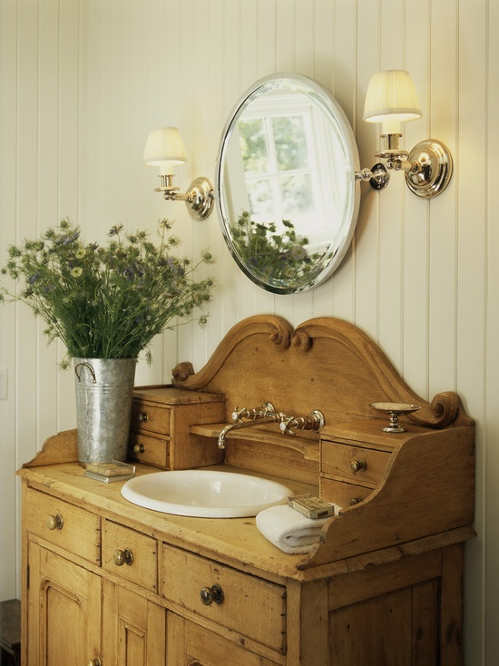 Simple Details: Dresser As Bathroom Vanity