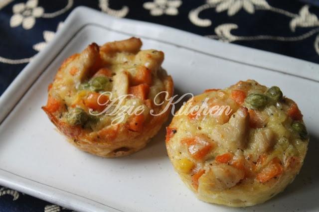 Mini Chicken Pot Pie Yang Mudah Dan Sangat Sedap