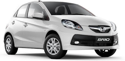 Honda Brio white colour car