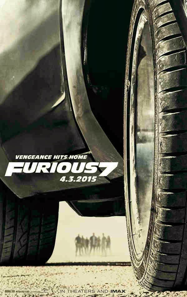 Vengeance Hits Home: Furious 7 Movie Poster