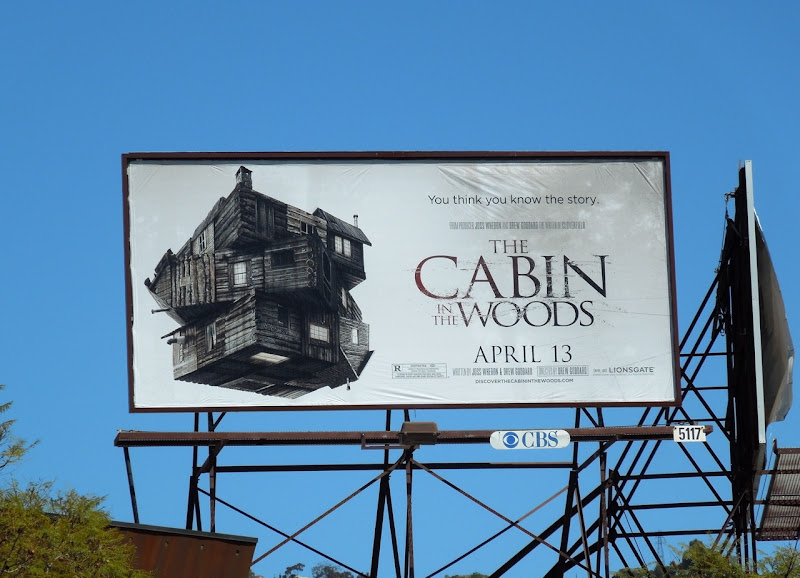 Cabin in the Woods billboard