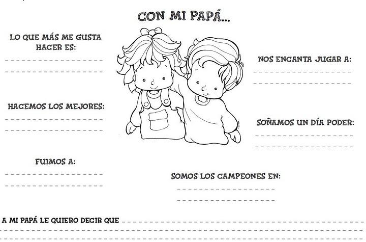 Dibujos Del Dia Del Padre Coloreados: Recursos Infantiles