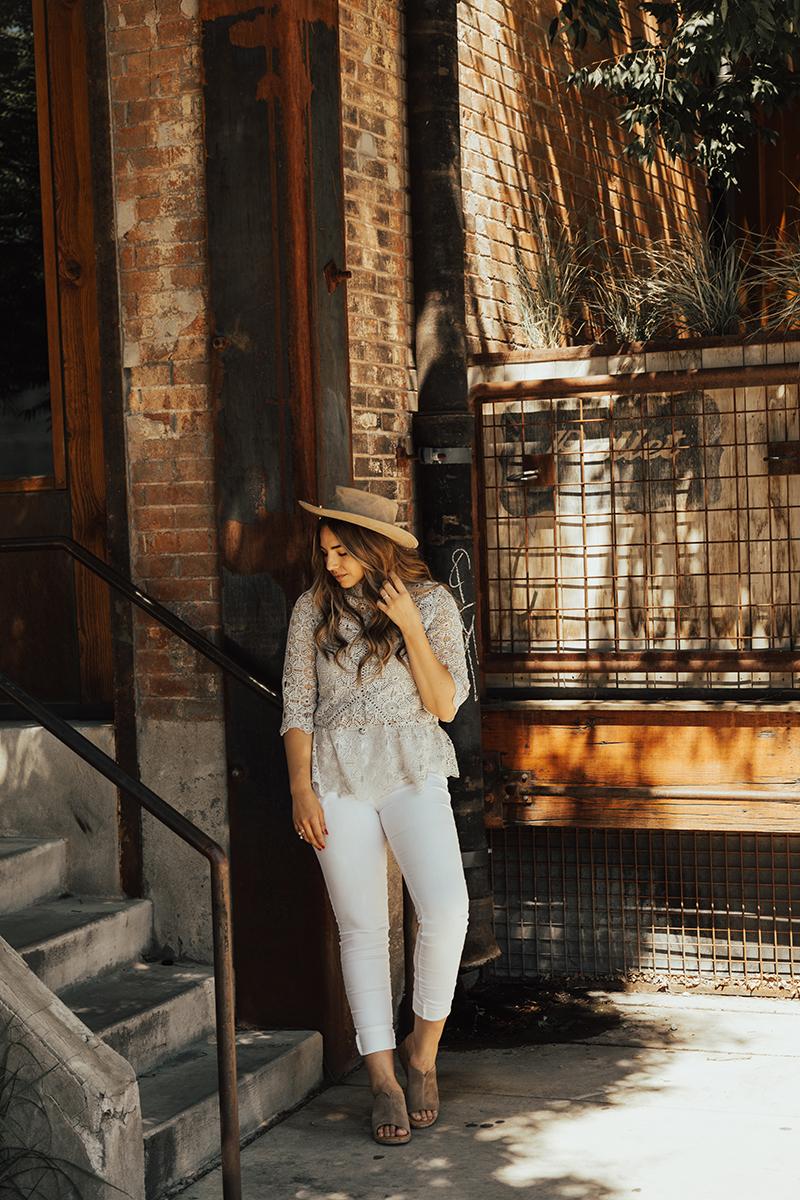wide brim hat, fedora, cute summer outfit