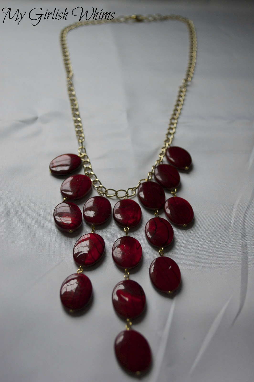 Diy Red And Black Eye Makeup: DIY Red Statement Necklace