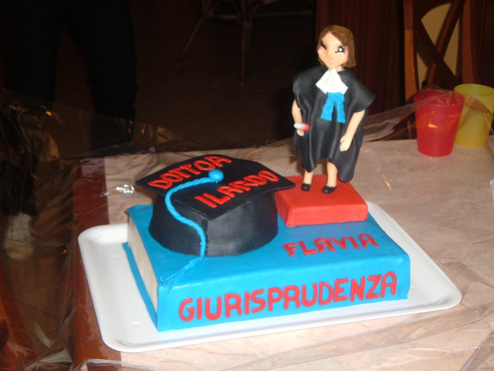 Popolare Tutti Pazzi x La PdZ (Pasta di Zucchero): Torta Laurea Giurisprudenza JS64