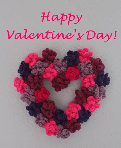 DIY-Basteltipp für ein Valentinstag-Herz aus gehäkelten Rosen von Ars Vera.