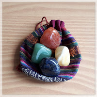 crystals four elements Yellow calcite Green aventurine Lapis Lazuli Carnelian