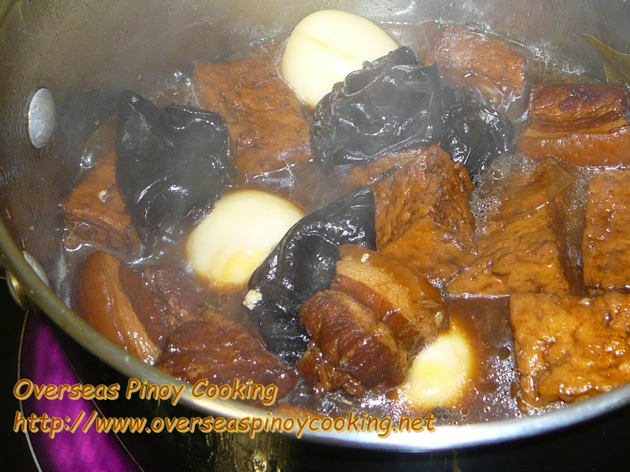 Braised Pork and Tofu with Black Fungus - Cooking Procedure
